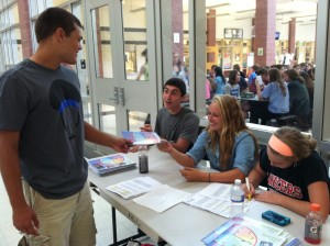 Photo of the day: Yearbook hands out spring supplement