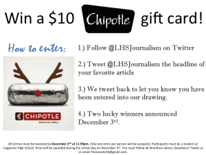 Win a $10 Chipotle gift card!