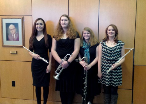 Conlon, Davis, Hudson and Temple perform with WVU honor band: Photo of the Day 2/19/2015