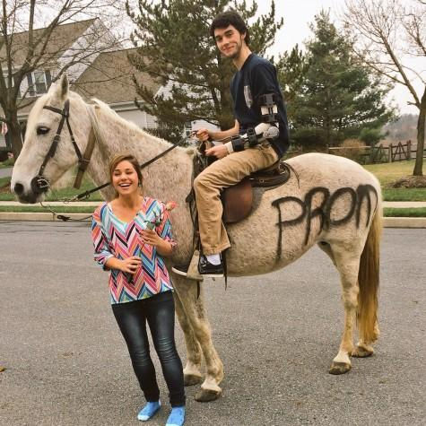 Promposal 2015: Broken-armed beau promposes on a horse
