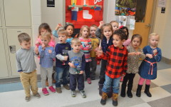 Little Lancers carol through the halls: Photo of the Day 12/23/15