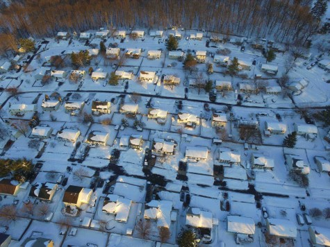 A drone's eye view: A Mt. Airy snow story from the air