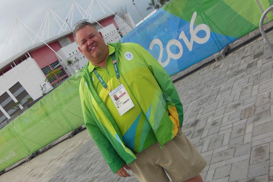 "Brown volunteers in Rio and ""gives something back"" to the games"