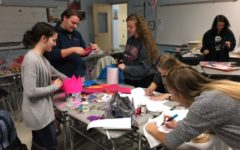 French Honor Society decorates for St. Catherine's day: Photo of the Day 11/25/16