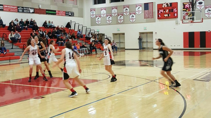 Girls Varsity Basketball team defeats Oakdale: Photo of the Day 1/4/17