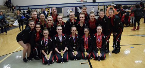 Pom and Dance team competes at Marriotts Ridge: Photo of the Day 1/21/2017