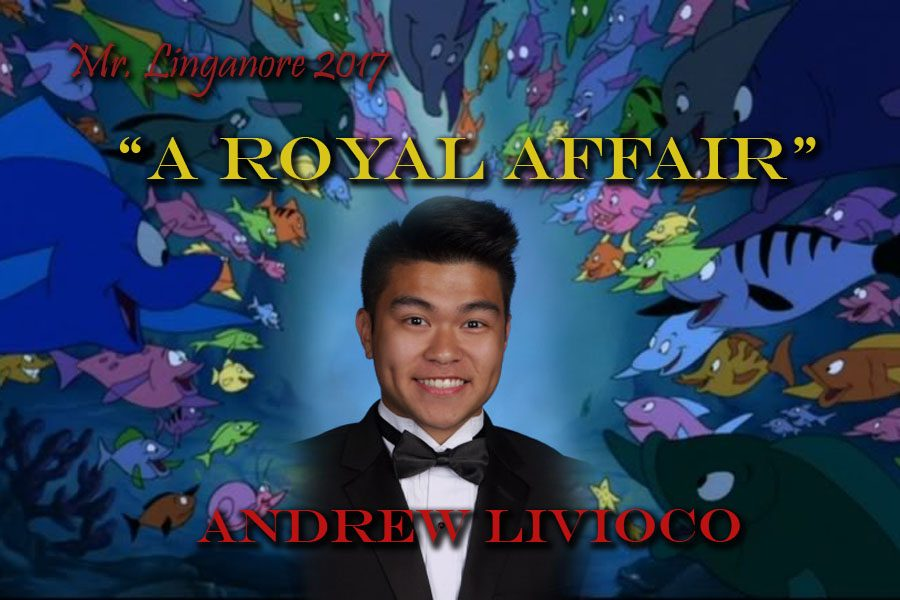 Andrew Livioco is ready to sail right past the other Mr. Linganore contestants