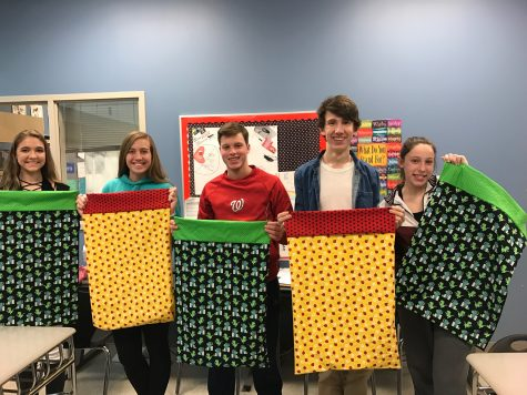 The Lance sews pillowcases for Ryan's Case for Smiles