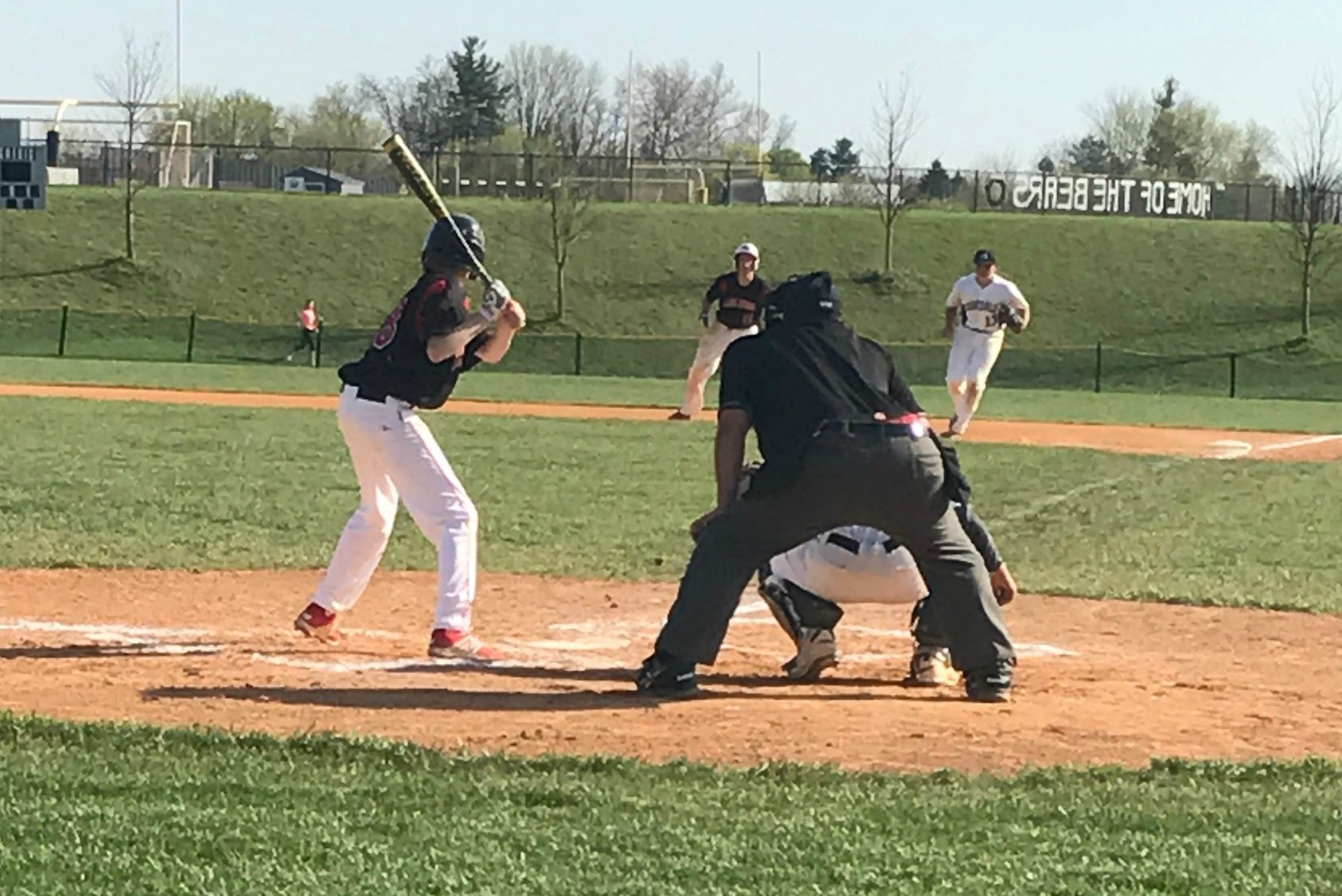 Austin Franks at the plate in the 2nd inning.