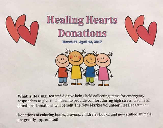 Donations can be placed in the box in the front office.