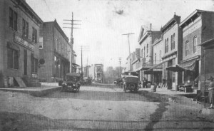 An 1800's photograph of Main Street
