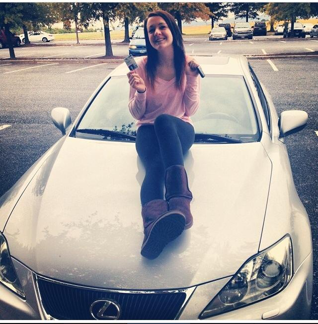 Kassie+Lane+poses+with+her+new+car+after+passing+her+driver%E2%80%99s+test.%0A%0APhoto+courtesy+of%3A+Kassie+Lane