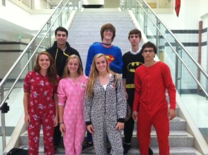 Monday's spirit day: pajama day