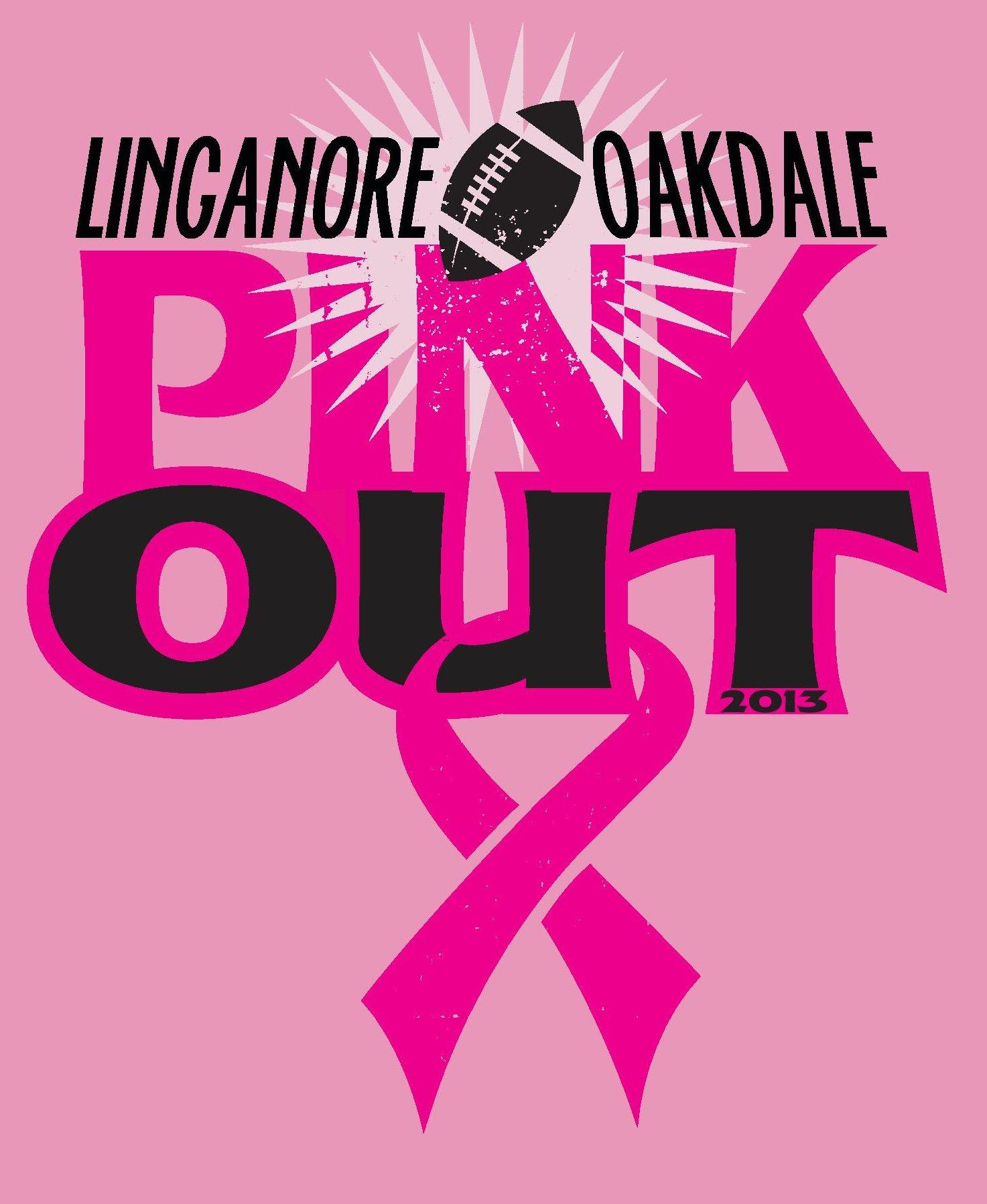 Logo the SGA will use for the Pink-Out football game t-shirts.   Photo courtesy of Linganore SGA