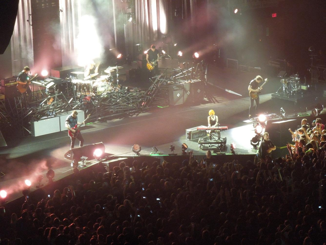"Paramore performs ""Last Hope"" on November 9th at the Patriot Center for thousands of adoring fans."
