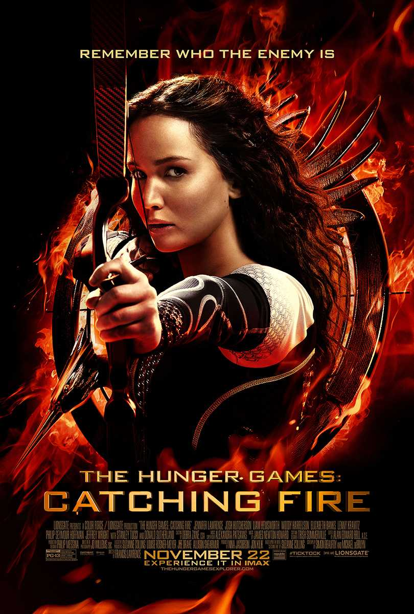 Official movie poster for Catching Fire