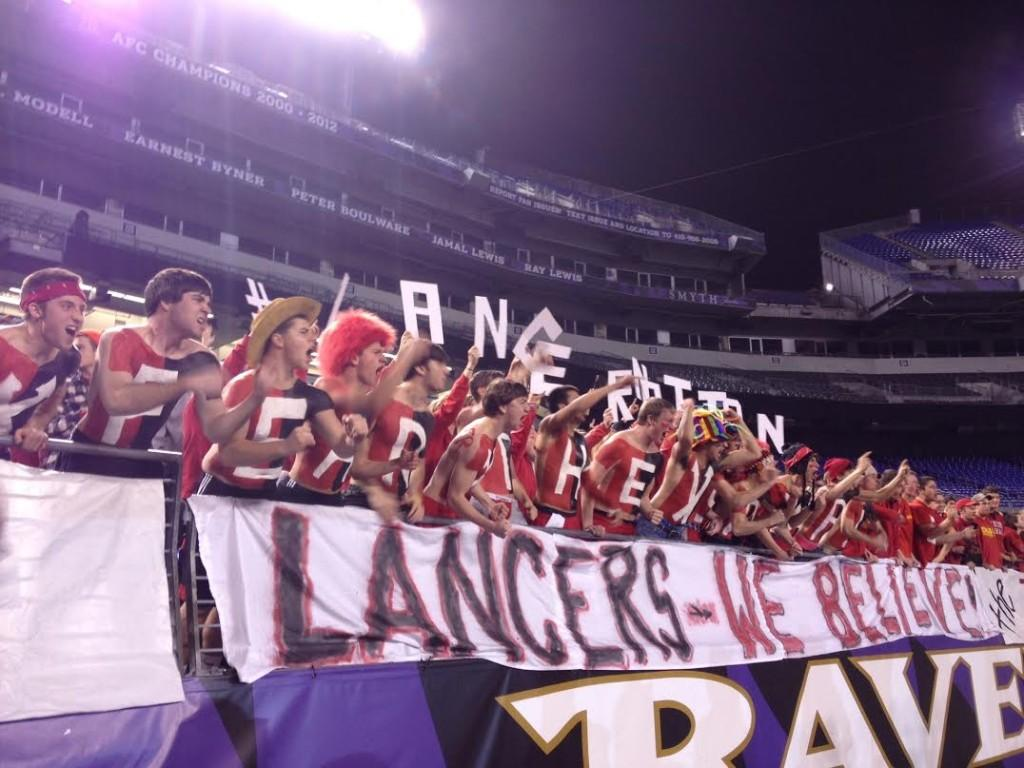 Linganore fans fill the stands at the M&T Bank Stadium on Thursday night for the State Championship game against Franklin High School