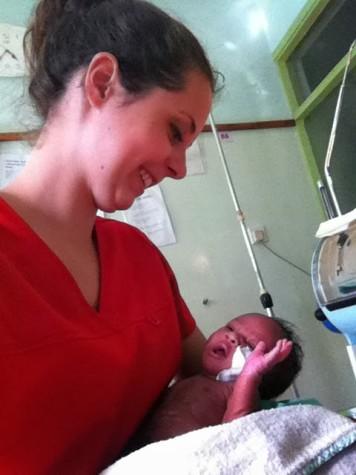 Through CMMB, alumna McKinnon nurses in Tabaka, Africa