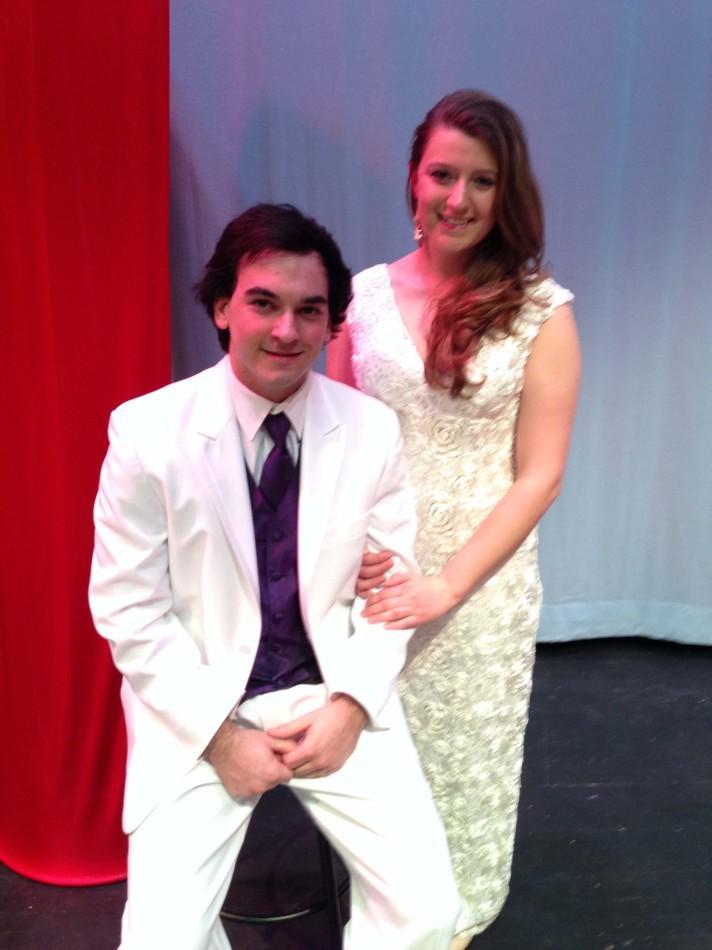 Mr. Linganore contestant Matt Sauerhoff and Hannah Belski in their formal wear.