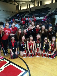 Photo of the Day 3-18-2014: LHS Pom and Dance win many trophies at Mid Atlantic Championships