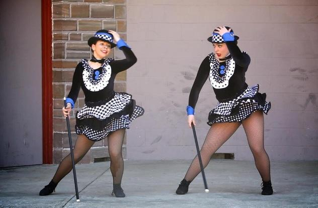Libby Pell (Oakdale) and Isabella Marcellino (LHS) perform as Tweedle Dee and Tweedle Dum in Alice in Wonderland.