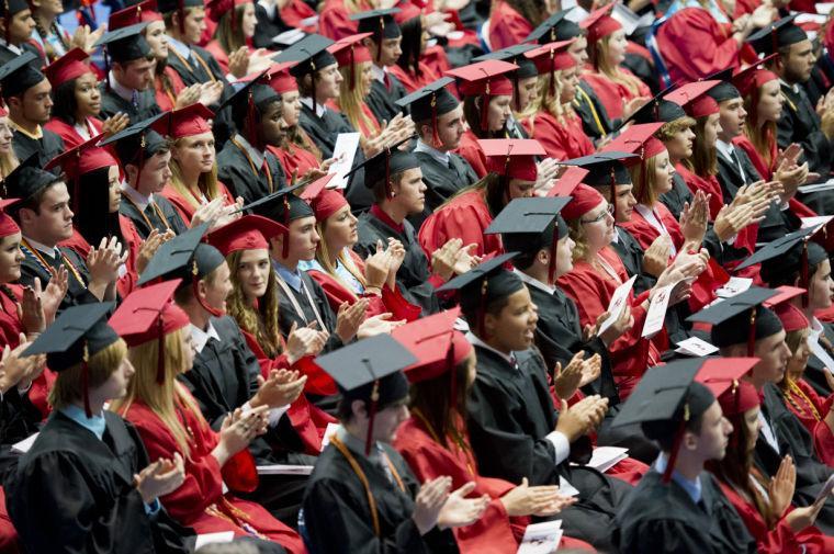 Photo courtesy of Travis S. Pratt/ Frederick News Post. Linganore High School's 2013 graduation.