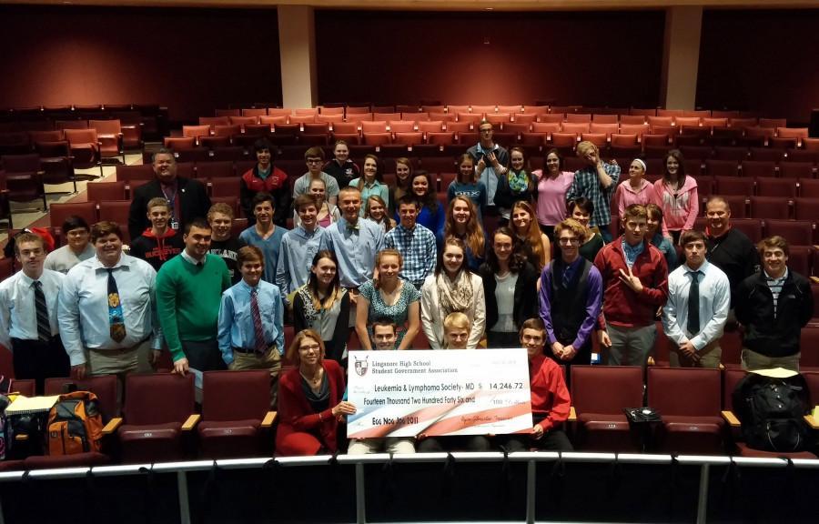 SGA donates $14,246.72 to leukemia research