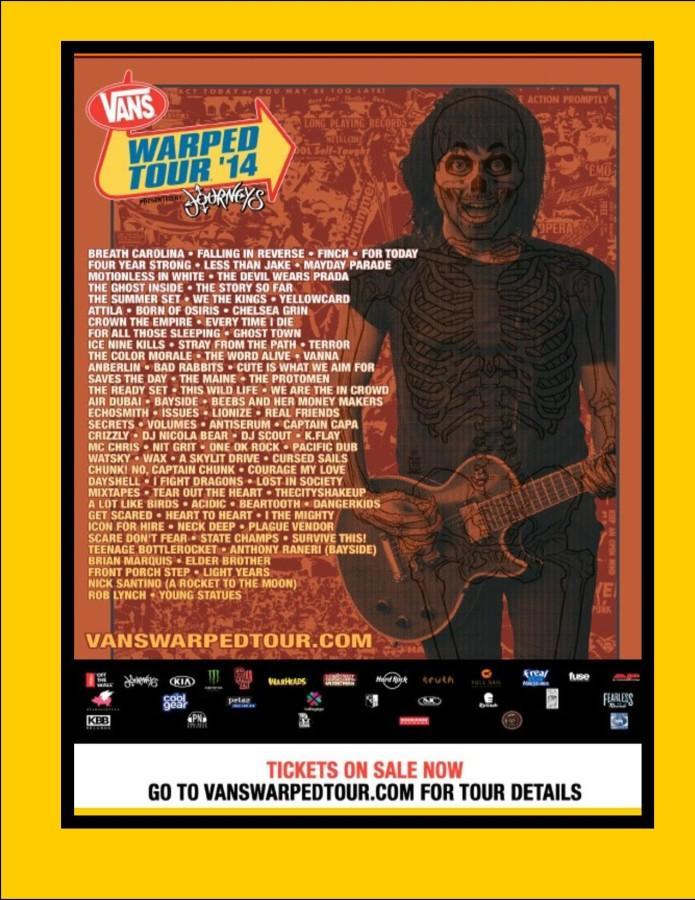 Heat up your summer by winning tickets to Warped Tour!