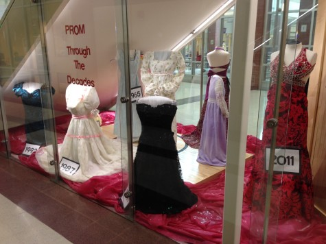 "Alumni create a ""blast from the past"" with vintage prom dress display"