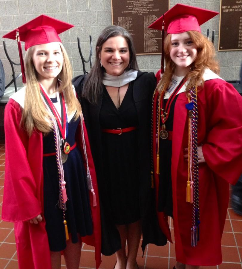 (Left to Right) Alicia Rambo, Mrs. Beth Sands, and Kirsten Klimas