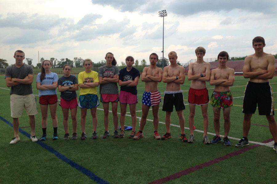 Track State Qualifiers make an intimidation pose.