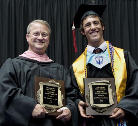 Jack Garabedian and Damon Dye receive annual Golden Lance awards