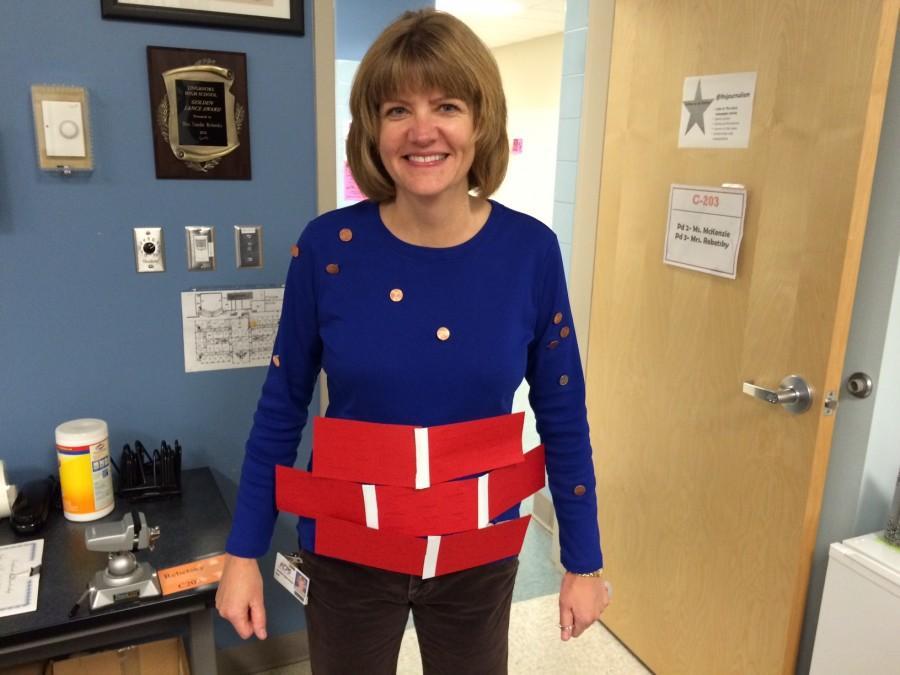 Jennifer Radil-Harris celebrates Well-dressed Wednesday with a wishing well costume.