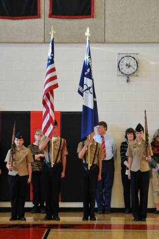 Gallery: First-period pep rally honors Veterans Day and girls' soccer