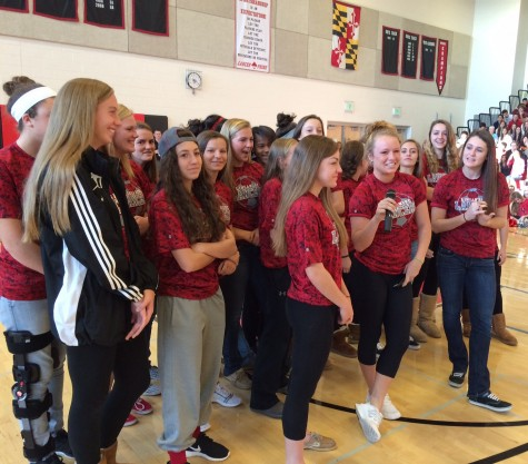 Photo of the Day 11/11/14: Third pep rally of the year celebrates the girls soccer team