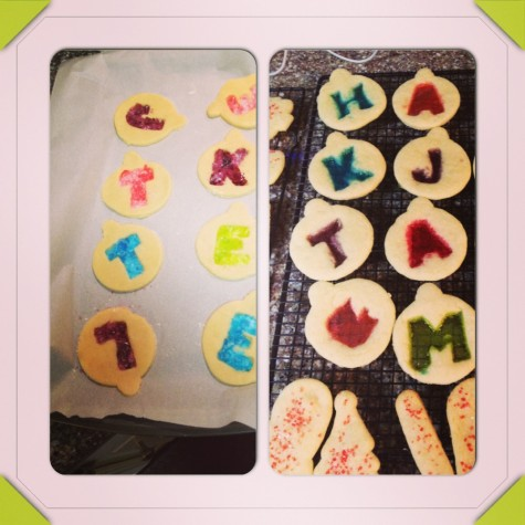 Lancer Media Kitchen bakes Stained Glass Ornament cookies