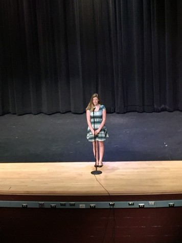 Photo of the Day 11/20/14: Caitlin Butler competes in Poetry Out Loud