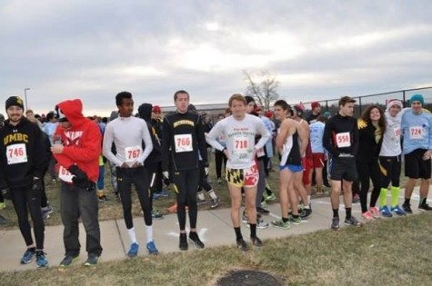 Student participants getting ready to start the Jog.