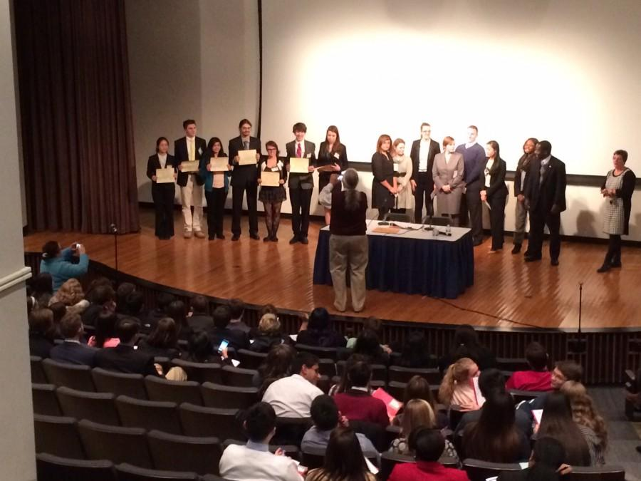 LHS students win 3 awards at the 10th annual Model U.N on Saturday January 10th.