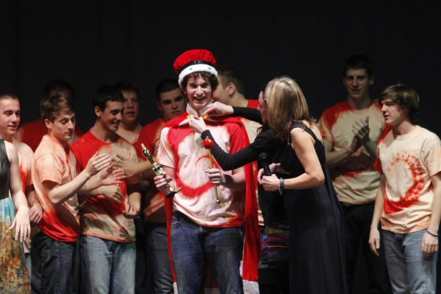 Mark Shiderly is crowned Mr. LHS 2014.