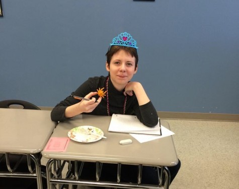 Jessica Steves finds the lucky spider in her King Cake!