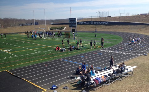 Unified track hold time trials at Urbana High School: Photo of the Day 3/24/15