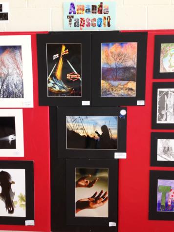 Senior Amanda Tapscotts photography exhibit.