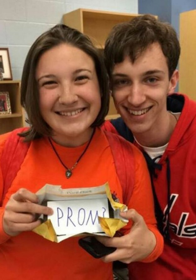Alex Peterson ends the school day with a delicious promposal to his girlfriend Abby Hilton.