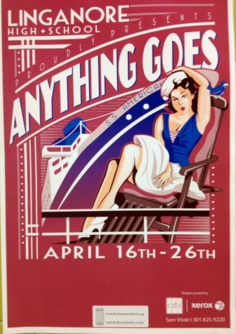 """Computer Graphics designs posters for """"Anything Goes"""""""