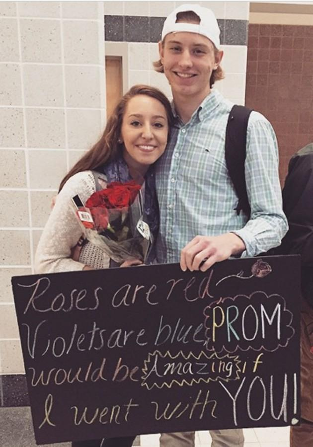 Cole Sible poses with Sydney Garwood after she said