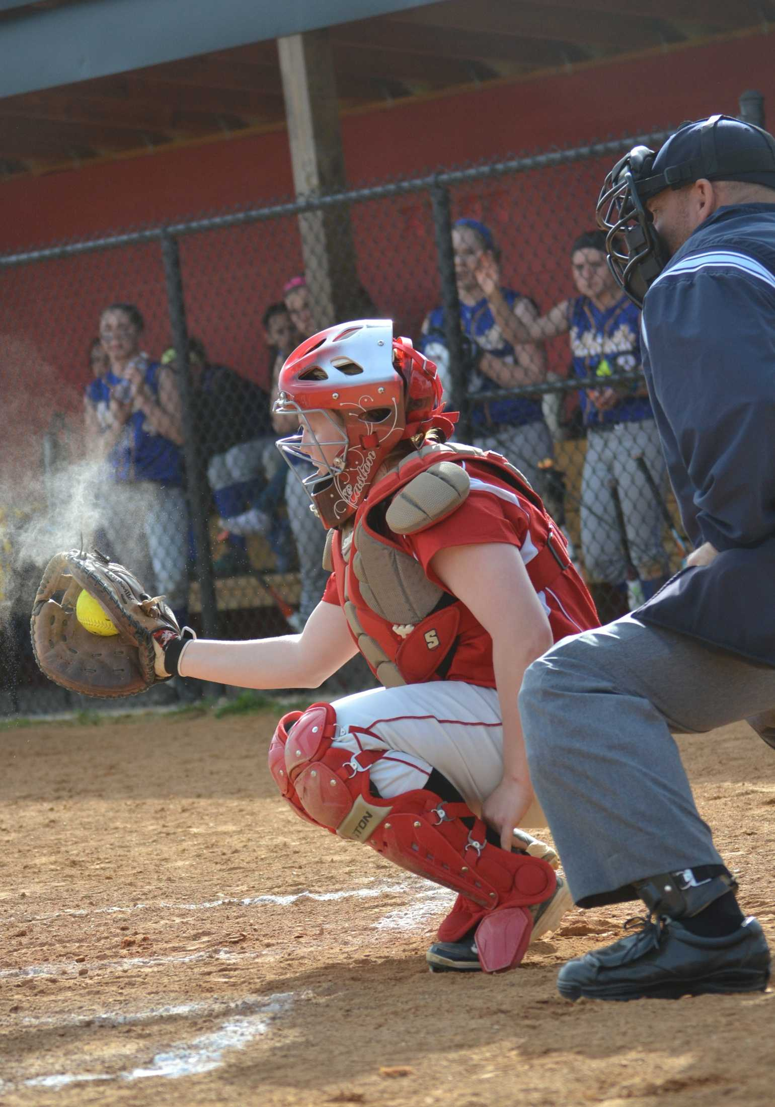 Freshman Jordan Specht plays during a game against Walkersville on April 15. The Lancers won with a score of 15-12.