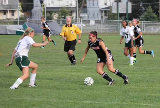 Elizabeth Coletti dribbles past a defender against South Hagerstown.