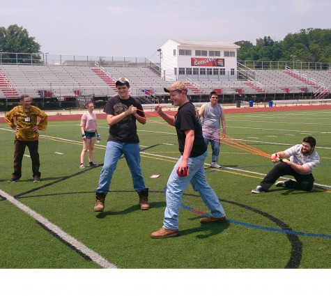 Algebra class plays Angry Birds on football field: Photo of the Day 6/15/2015