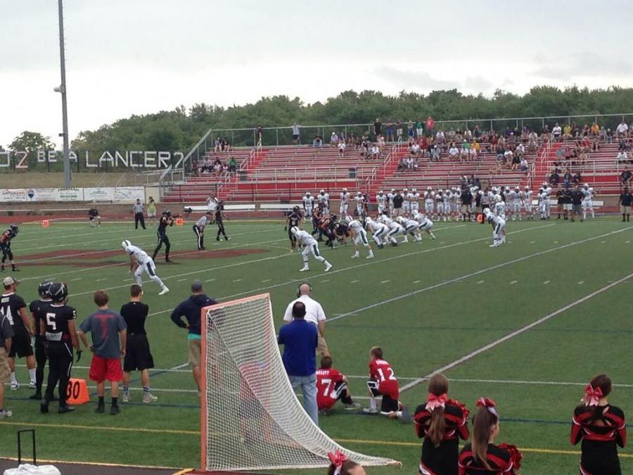 Linganore+football+resumes+play+against+Tuscarora+after+Friday+night%27s+lightning+delay